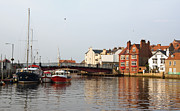 Jane Mcilroy Metal Prints - Whitby Harbour Metal Print by Jane McIlroy