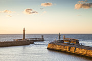England Photos - Whitby Harbour North Yorkshire England by Colin and Linda McKie