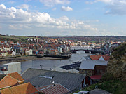 River Esk Prints - Whitby Rooftops Print by Rod Johnson