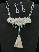 Robin Aitken Hardy - White and Aqua Choker Set
