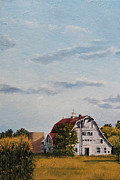 Old Barn Paintings - White and Red by Gwen Thelen