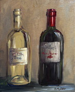 Wine Tasting Prints - White and Red Print by Viktoria K Majestic