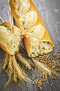 Grains Prints - White baguette Print by Elena Elisseeva