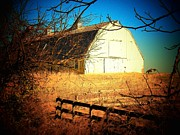 Old Barns Metal Prints - White Barn Metal Print by Joyce  Kimble Smith
