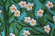 Cynthia Snyder Art - White Blooms 2 by Cynthia Snyder
