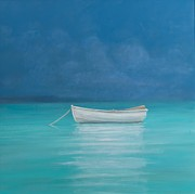Featured Framed Prints - White boat Kilifi 2012  Framed Print by Lincoln Seligman