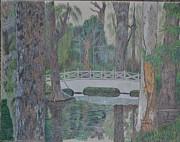 White Bridge Print by Dave Smith