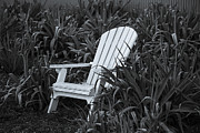 White Photo Posters - White Chair Poster by Garry Gay
