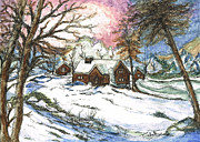 Lit Mixed Media Framed Prints - White Christmas Framed Print by Teresa White