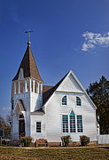 Baptist Photos - White church by Elena Nosyreva