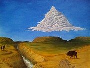 Dakota Paintings - White Cloud by John Lyes