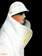 Fashion Art For Print Posters - White Coat And Hat Poster by William Cain