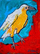 Crows Paintings - White Crow by Ana Maria Edulescu