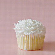 Frosting Prints - White Cupcake on Pink Print by Art Block Collections
