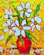 Yellow Daffodils Art Originals - White Daffodils  by Ana Maria Edulescu