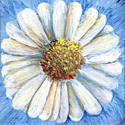 Regina Valluzzi - White daisy miniature painting