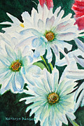 Botanical Paintings - White Daisy Trio II by Kathryn Duncan