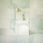Abstraction Art - White by Daniel Cacouault