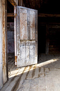 Bannack State Park Photos - White Door by Fran Riley