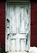 Old Door Framed Prints - White Door Framed Print by John Rizzuto