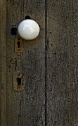 Hardware Photos - White Doorknob by Murray Bloom