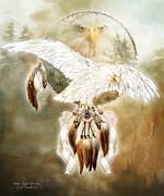 White Eagle Dreams Print by Carol Cavalaris