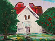 Mary Carol Williams - White Farmhouse with...
