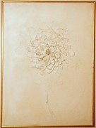 Paper Mache Framed Prints - White Flower 1969 Framed Print by James Howard