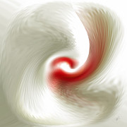 Translucent Digital Art - White Flower Abstraction by Ben and Raisa Gertsberg