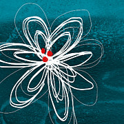Red White Blue Prints - White Flower Print by Linda Woods