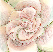 White  Glass Art Posters - White Gardenia 1 Poster by Anna Skaradzinska
