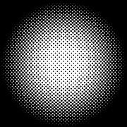 Optical Illusion Digital Art Posters - White Halftone Donts on Black Poster by Paulette Wright