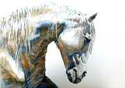 Unique Art Originals - White Horse by Juan Jose Espinoza