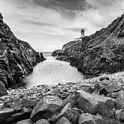 Coastguard Photo Originals - White Lighthouse  by Jacek  Kadaj