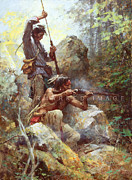 Howard Terpning - White Man Fire Sticks