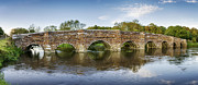 White River Scene Art - White Mill Bridge in Dorset by Helen Hotson