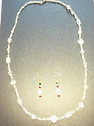 Long Necklace Jewelry - White Necklace II by Karen Jensen