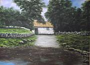 White O' Morn Cottage Print by Robert Gary Chestnutt