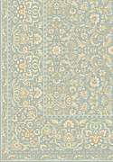 Concept Tapestries - Textiles - White on blue by Palade Marian