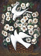 Dove Art - White on White by Linda Mears