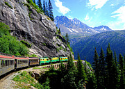 Catherine White Photo Prints - White Pass and Yukon Route Railway in British Colombia Print by Catherine Sherman