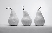 Nature Morte Pyrography - White Pears by Krasimir Tolev