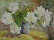 Veronica Coulston - White Peonies