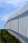 Barrier Photos - White Picket Fence by Olivier Le Queinec