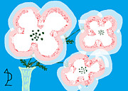 Poppy Drawings - White Poppies by Anita Dale Livaditis