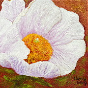 Nancy Jolley Art - White Poppy by Nancy Jolley