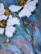 Maggie Turner - White Poppy Painting