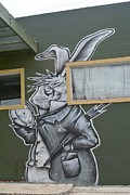 March Hare Prints - White Rabbit Print by Lne Kirkes