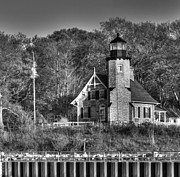 White River Prints - White River Lighthouse Print by Twenty Two North Photography