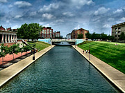 Julie Dant Metal Prints - White River Park Canal in Indy Metal Print by Julie Dant